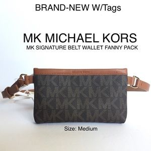 Michael Kors MK Signature Belt Wallet Fanny Pack M